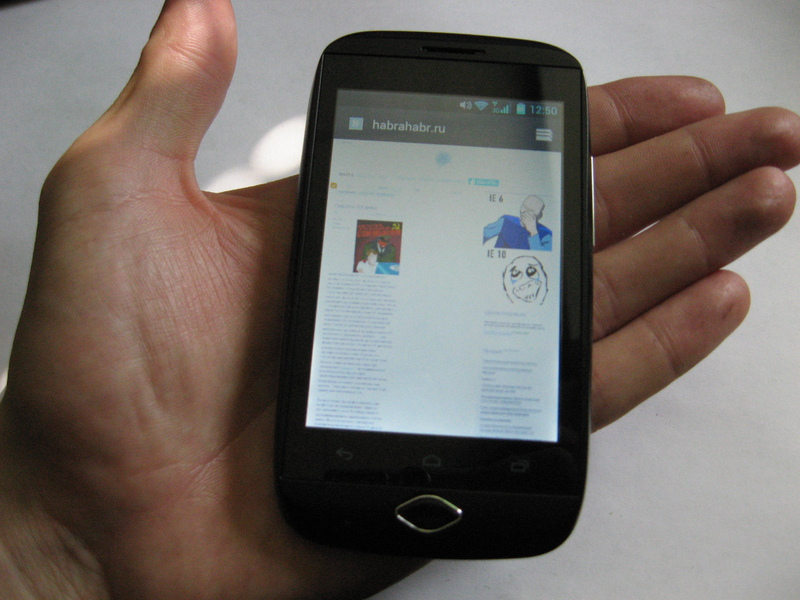 MegaFon Login (SP-A1): ну очень бюджетный Android / Хабрахабр