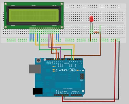 и светодиода к Arduino Uno
