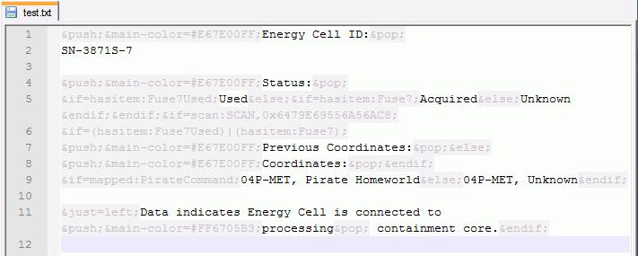 Metroid Prime 3 Notepad++ Highlighting