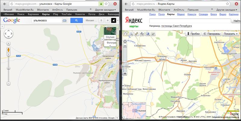 Карта ульяновска гугл