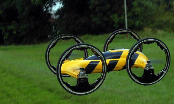 Квадрокоптер-машинка на