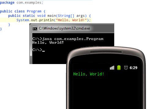 Запускаем консольные Java приложения на Android