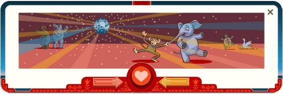 Дудл Гугла ко дню всех влюбленных