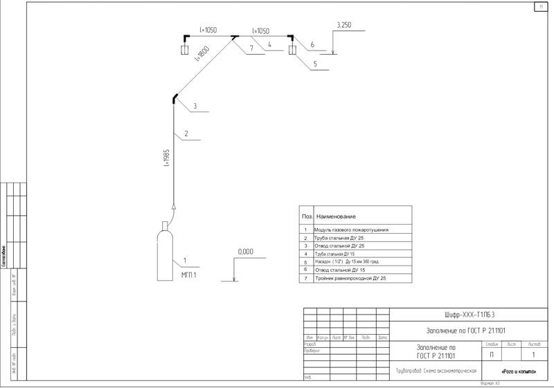 и нет) схема трубопровода.