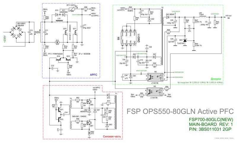 Схема контроллера APFC: