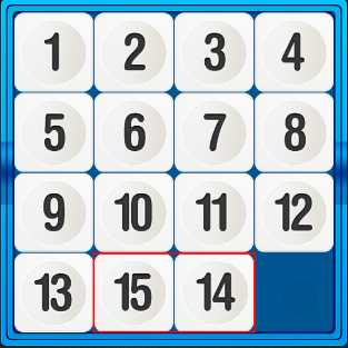 игра 15 пятнашки