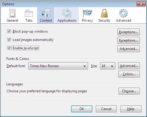 как отключить картинки в Firefox - фото 9