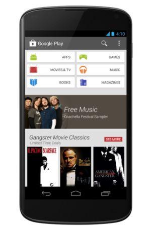 Анонсирована новая версия Google Play (Google Play 4.0)