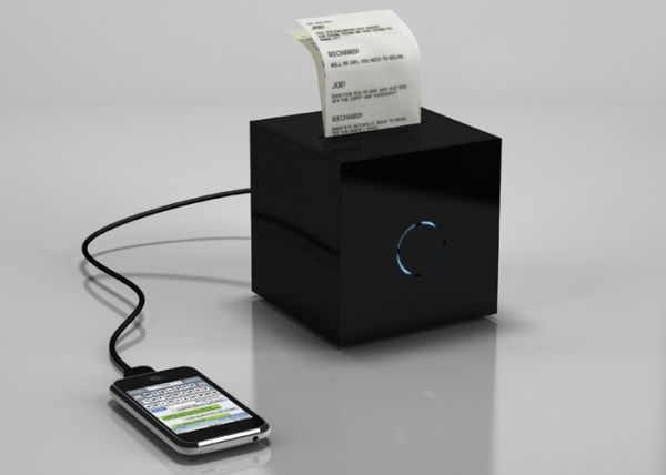 BlackBox — миниатюрный принтер для распечатки sms