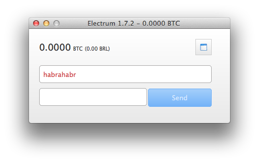 Electrum: Легкий Bitcoin клиент