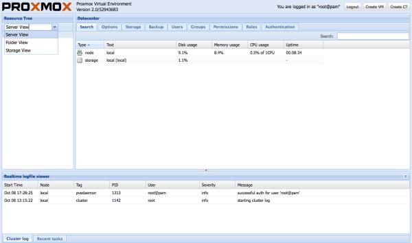 Наконец-то вышел Proxmox VE 2.0 final release