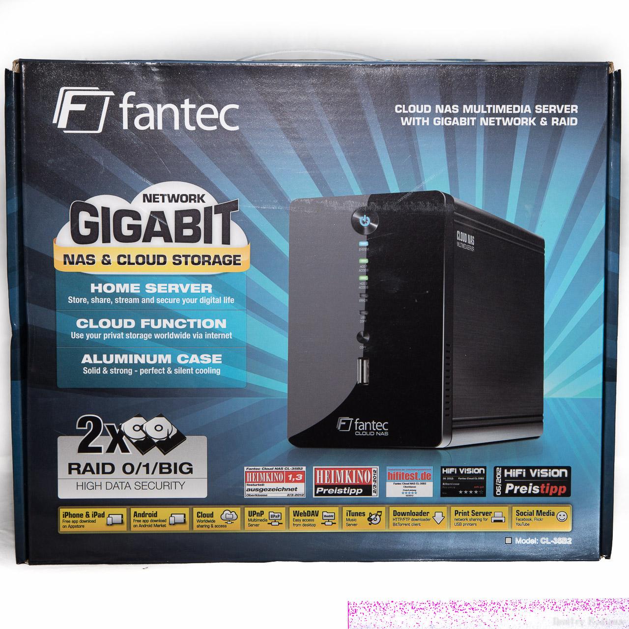 Обзор сетевого хранилища Fantec CL-35B2 RAID