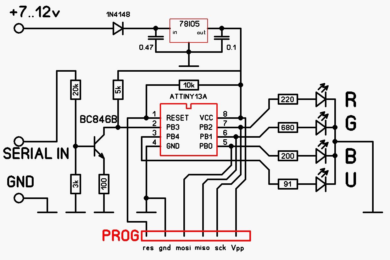 Схемы гирлянд на микроконтроллере