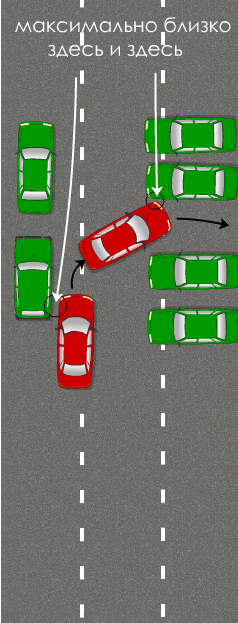 авто и ехать как на схеме,