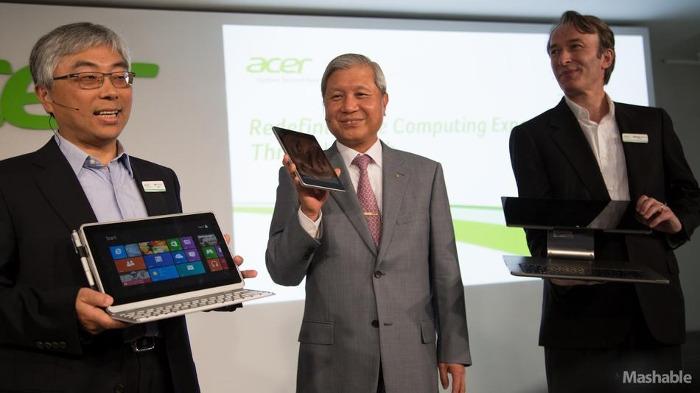 Acer представил новые гибридные устройства на Windows и дешёвый Android-планшет