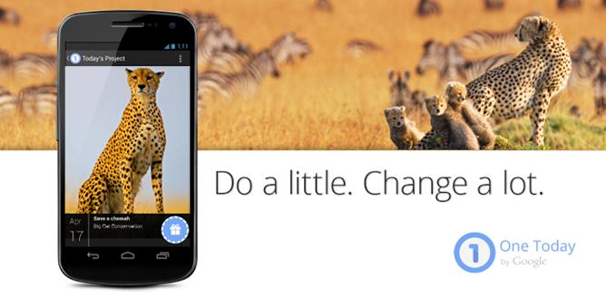 ...приложение для мобильных телефонов под названием One Today, которое позволит пожертвовать деньги в размере 1 $ для.