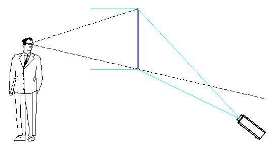 рисунке (на схеме проектор