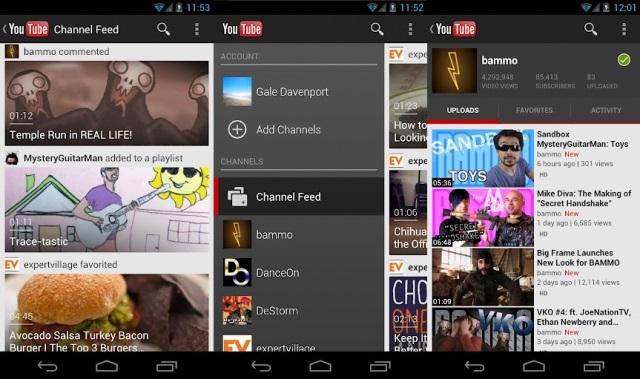 Новый YouTube для Android