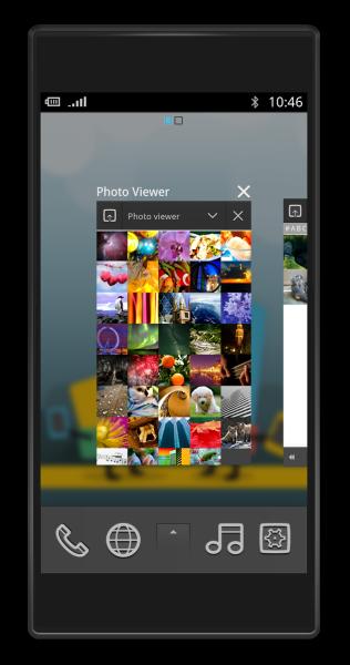 Запущенное приложение в MeeGo