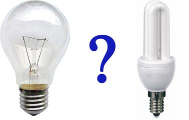 лампа накаливания VS люминисцентная лампа
