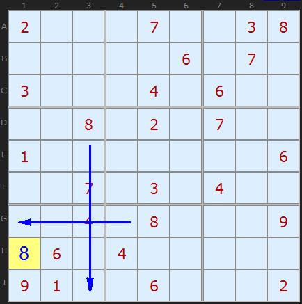 Рассмотрим седьмой квадрат.