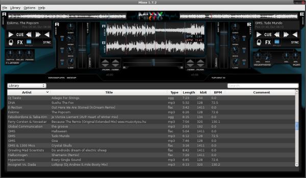 Скриншот Mixxx