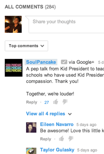 YouTube начинает поддерживать комментарии через Google+