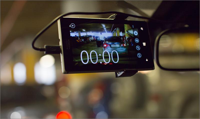 Смартфон с видеорегистратором
