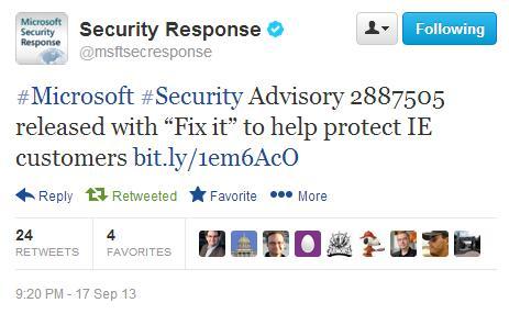 Новая cross- Internet Explorer уязвимость эксплуатируется in-the-wild