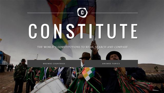 Google Constitute — поиск и сравнение 160 мировых конституций