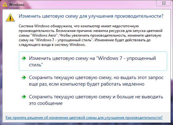 цветовой схемы windows 7