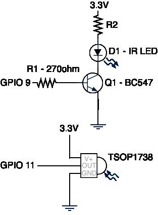 схему ИК передатчика для