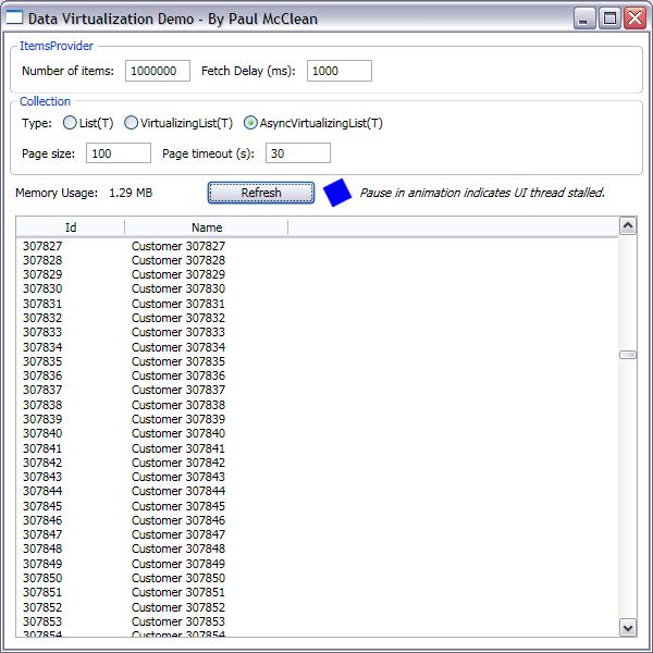 Виртуализация данных в WPF