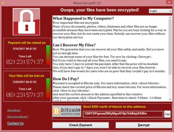 Как защищаться от атаки вируса-шифровальщика «WannaCry»