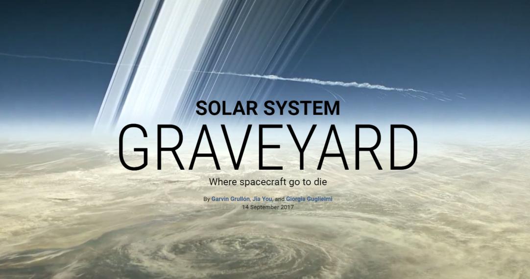 Инфографика: все 42 космических аппарата, похороненные за пределами Земли
