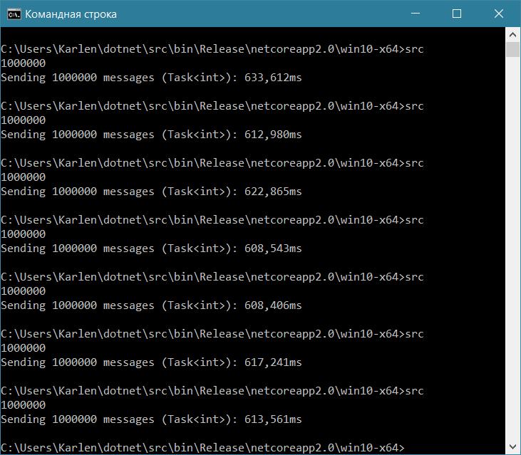 Мириады запущенных задач на C#