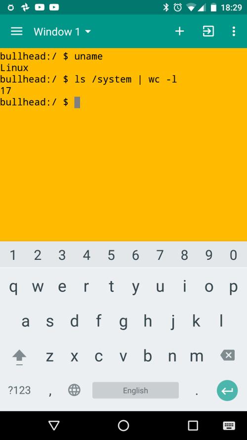 Эмулятор терминала на Android