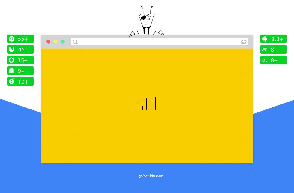 Квадратный preloader на css - CSS3 Loader