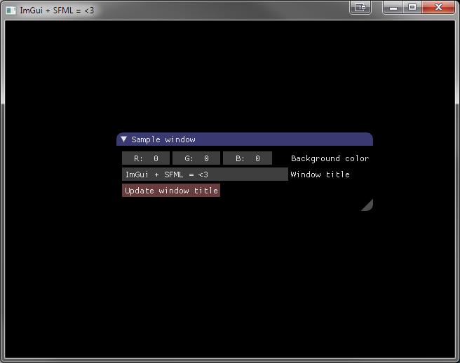Использование ImGui с SFML для создания инструментов для разработки игр