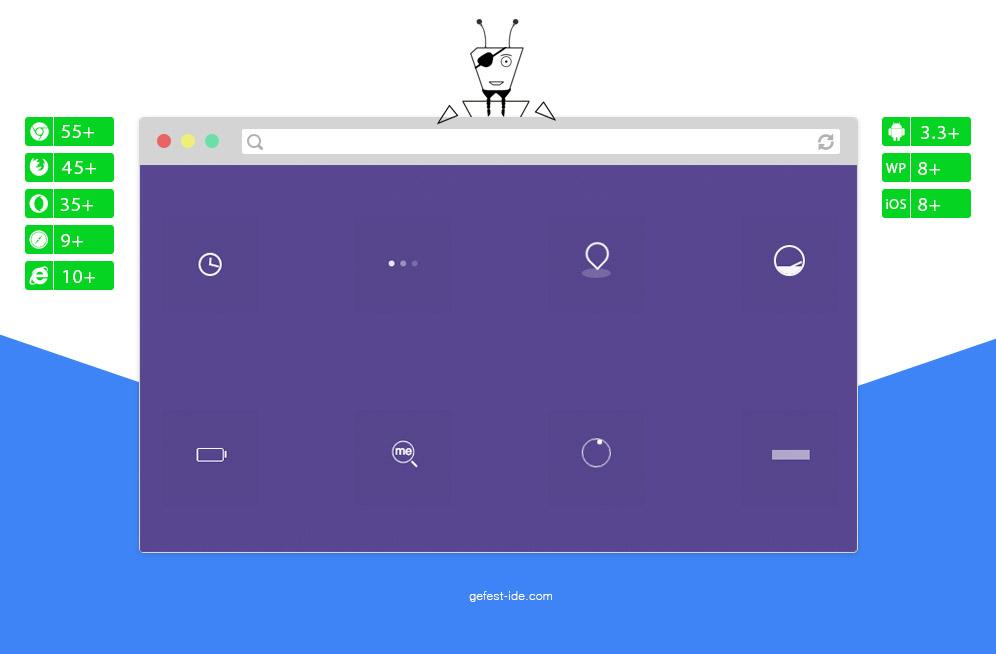 Сборник preloader на css - Pure CSS Loaders kit