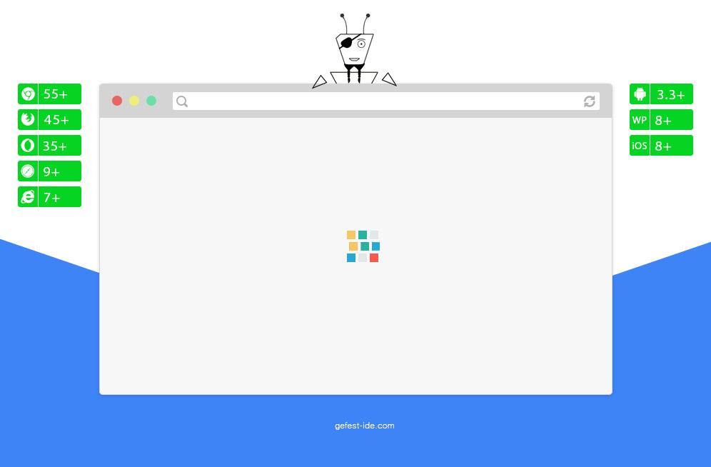 Квадратный preloader на css - Rubik loader