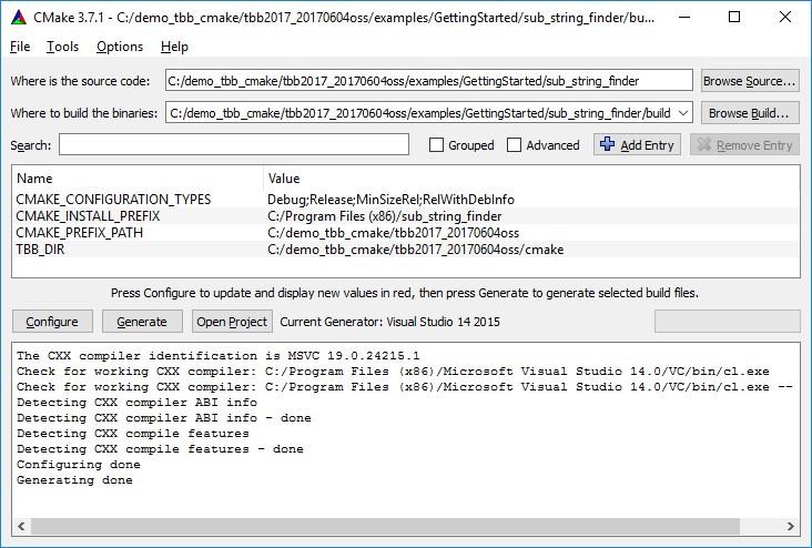 Интеграция Intel Threading Building Blocks в ваш CMake проект