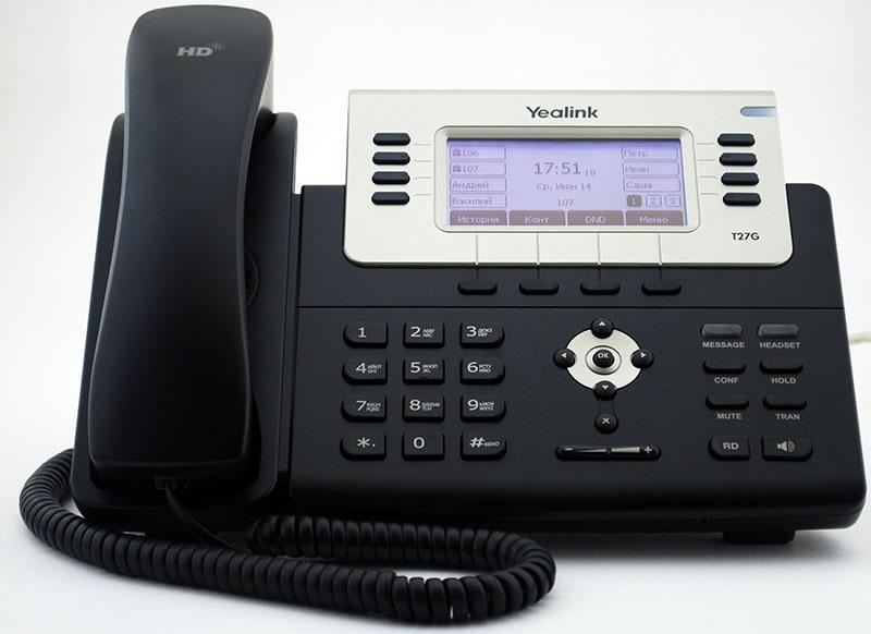 Обзор IP телефона Yealink SIP-T27G