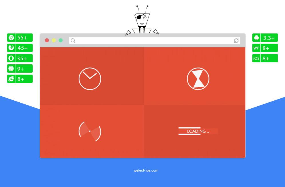 Сборник preloader на css - Loaders (WIP)