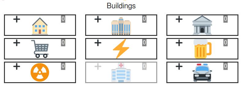 Сетка постройки зданий