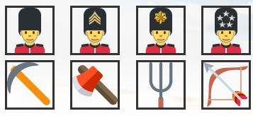 Пример иконок юнитов