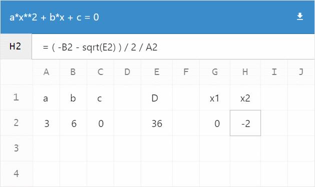 a*x**2 + b*x + c = 0