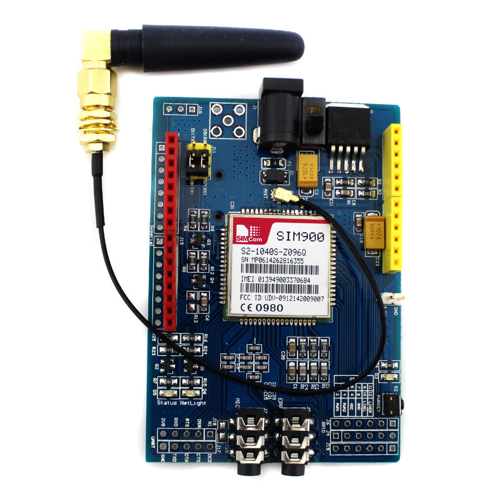 SIM900 GSM/GPRS shield for Arduino - MyDuinocom