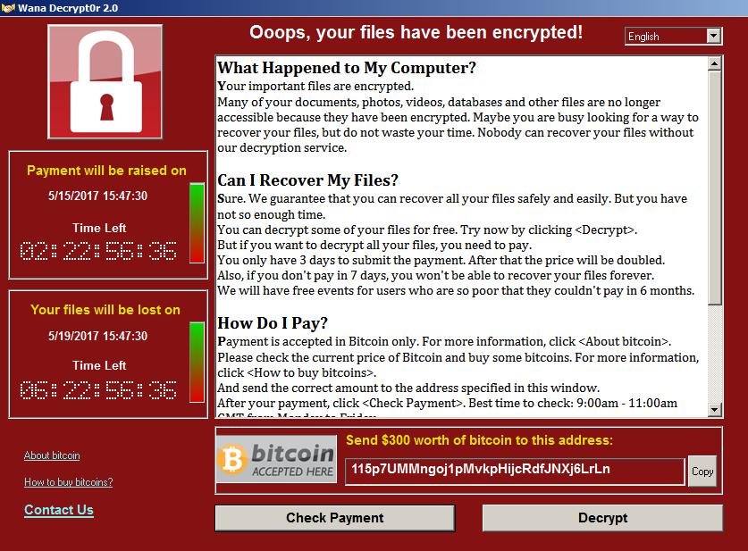 Wana Decrypt0r: новая опасность для Windows-систем. Как защититься?