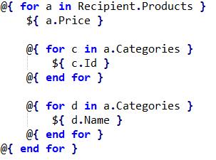 Две разных итерации по элементу, который сам является результатом итерации
